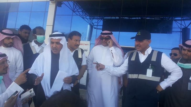 نائب وزير الصحة يزور موقع #حريق_مستشفى_جازان_العام9