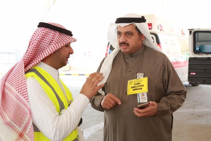 تجربة إخلاء فرضية بمدينة سعود الطبية9