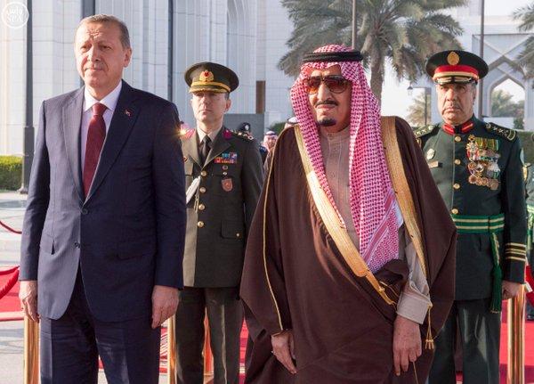 خادم الحرمين الشريفين يستقبل الرئيس التركي 9