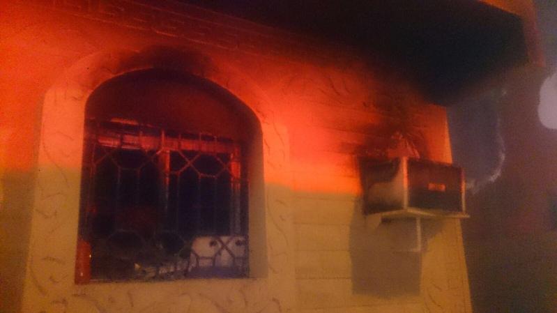 حريق شقة الجوف