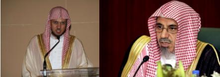 إمام وخطيب المسجد الحرام الشيخ الدكتور صالح بن حميد و إمام وخطيب المسجد النبوي فضيلة الشيخ عبدالمحسن القاسم