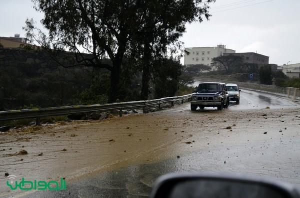صور بعدسة المواطن محمد عوضة العارم ترصد أمطار النماص