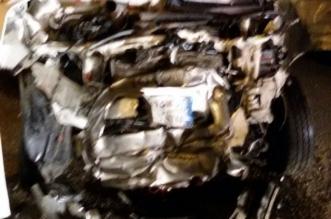 احتراق سيارة ووفاة قائدها في تصادم مروع بالمجمعة - المواطن