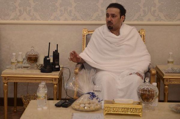 مشعل بن عبدالله في الحج