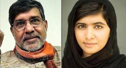منح جائوة نوبل للفتاة الباكستانية ملالا والهندي ساتيارثي