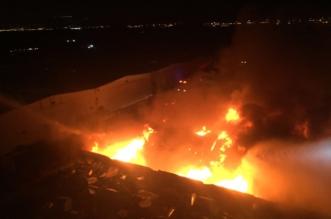 بالصور.. مدني المدينة المنورة يخمد حريقًا كبيراً في مستودعات بطريق العيون  - المواطن
