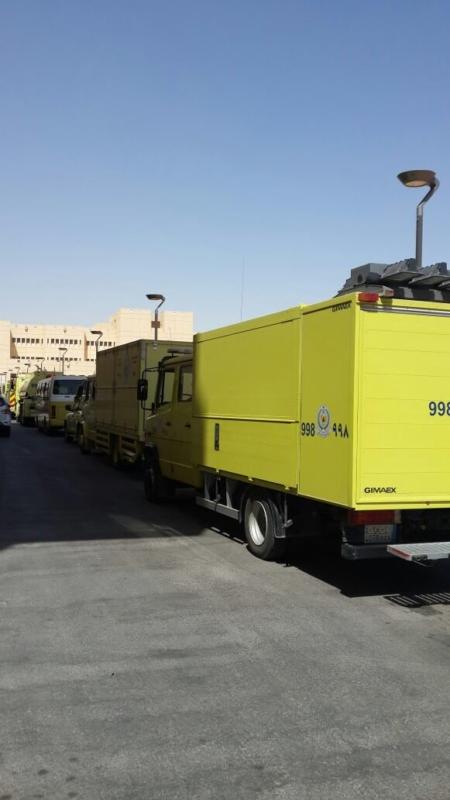 تسرب مادة كيمياية مستشفى الملك خالد الجامعي
