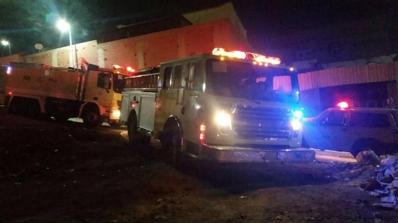 حريق منزل في جدة بسبب سكوتر