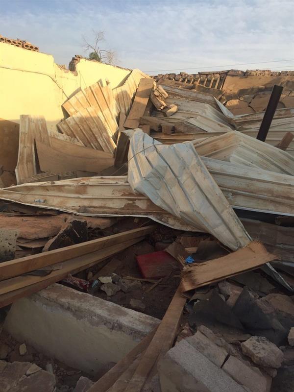 انهيار مبنى في حائل