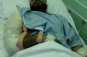 مصاب بمقذوفات الحوثي: ثقتنا كبيرة بجنودنا ونحن فداء للوطن - المواطن