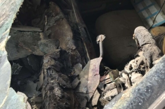 هذه آثار انفجار شاحن جوال مقلد في سيارة بالمدينة المنورة - المواطن