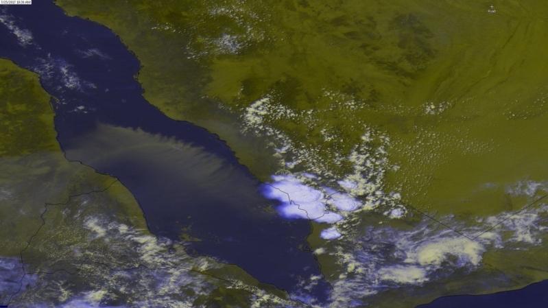 أمطار رعدية مصحوبة بغبار على 4 مناطق