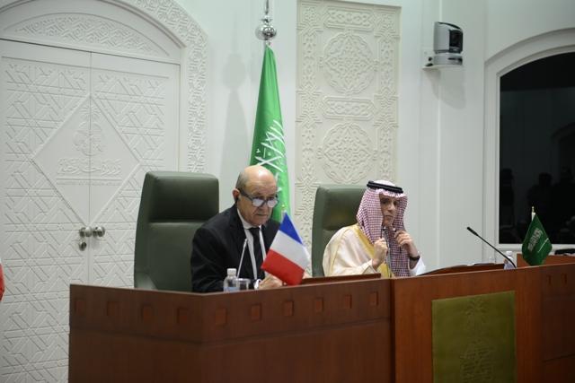 بالصور.. سعد الحريري وإرهاب إيران ورؤية 2030 أبرز مناقشات الجبير ونظيره الفرنسي
