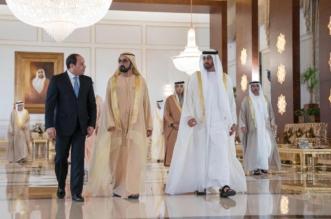 ولي عهد أبوظبي ومحمد بن راشد يستقبلان السيسي - المواطن