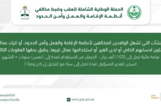 الجوازات تتوعد مشغلي المخالفين بالسجن والغرامة - المواطن