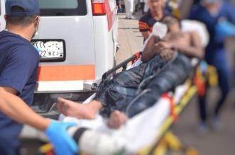 بالصور.. وفاة وإصابة 15 عاملاً في حريق عمارة بالرياض - المواطن