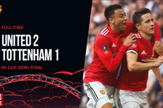 بالفيديو.. مانشستر يونايتد يهزم توتنهام في كأس إنجلترا - المواطن