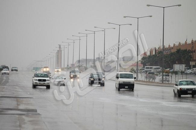 """""""المواطن"""" ترصد بالصور أمطار الخير شمال الرياض"""