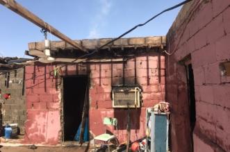 بالصور.. حريق منزل شعبي يصيب ٤ مقيمين بمهد الذهب - المواطن