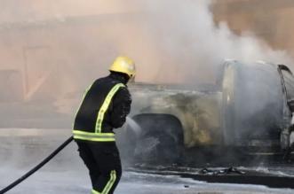 شاهد.. إخماد حريق شب بسيارة في القرية التراثية - المواطن
