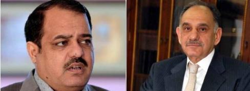 رئيس الوزراء العراقي صالح المطلك وعضو البرلمان العراقي النائب طلال الزوبعي