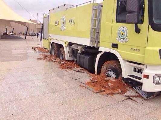 جامعة حائل تكشف الأسباب وراء تحطم ساحة المشاة والسيارات الصغيرة