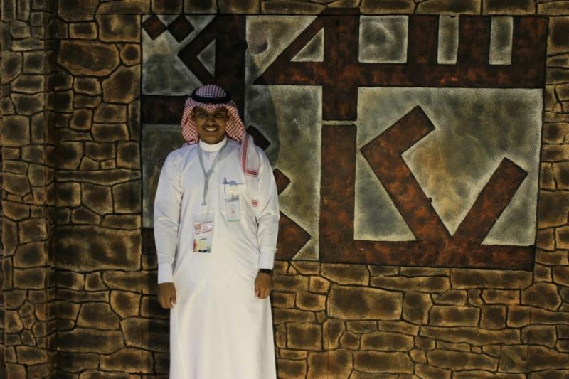 الإعلامي أحمد العُمري بسوق عكاظ