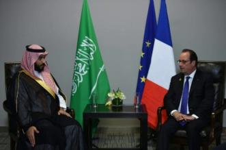 بالصور .. لقاء ولي ولي العهد والرئيس الفرنسي على هامش قمة العشرين - المواطن