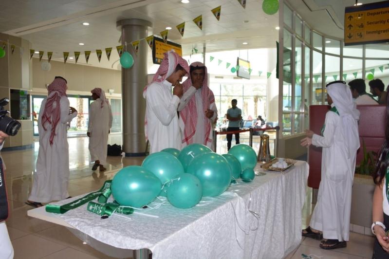 كيف احتفل مطار بيشة باليوم الوطني