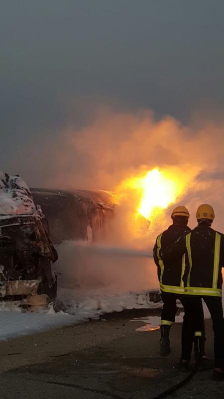 حريق قرية العليا بالشرقية