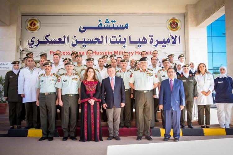 ملك الأردن يفتتح مستشفى الأميرة هيا العسكري بتمويل سعودي