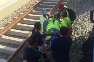 إصابة ٥ عمال ووفاة أخر بحادث مقطورة صيانة في قطار الحرمين بجدة - المواطن