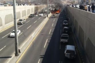 هلال عسير : 3 وفيات تفحّم أحدهم في انقلاب واحتراق سيارة بأبها - المواطن