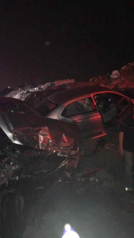 في جدة .. 4 إصابات في حادث تصادم نتيجة السرعة الزائدة