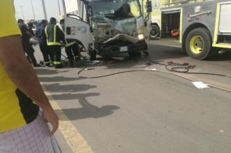 إصابة 10 أشخاص في حادث شرق الخط السريع - المواطن