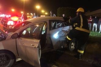 ٥ إصابات في حادث تصادم بطريق وادي وج بالطائف - المواطن