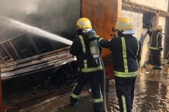 بالصور.. حريق المستودعات بجازان تحت سيطرة الدفاع المدني - المواطن