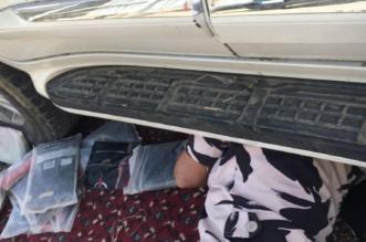 بالصور.. ضبط مركبة بداخلها 60 كجم حشيش في جازان - المواطن