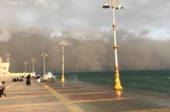 أتربة مثارة وأمطار رعدية على منطقة جازان - المواطن