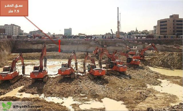 إنجاز21 % من أعمال الحفر بمحطة القطار بمنطقة قصر الحكم - المواطن