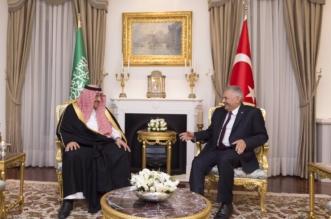 ولي العهد ورئيس وزراء تركيا يعقدان اجتماعاً ثنائياً - المواطن