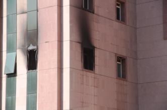 حريق مستشفى الطائف
