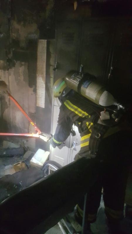 حريق مستشفى صامطة