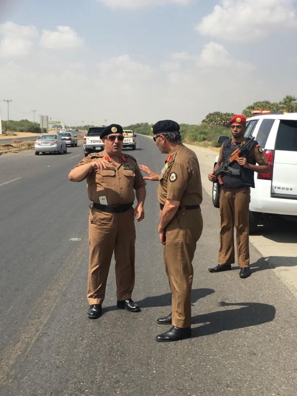 اللواء الدويسي يقف على تقاطع الحقو