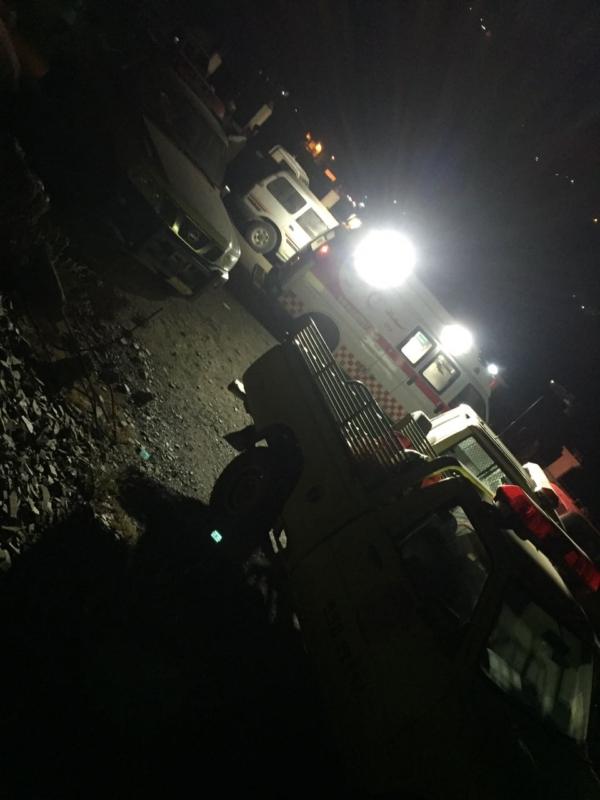 بالصور المواطن تكشف تفاصيل الحادثة المأسوية مصرع عائلة أثر سقوط سيارتهم في بني مالك جازان