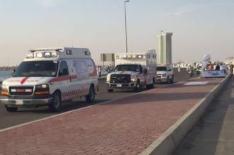احتجاز قائد شاحنة زيت انقلبت بسبب السرعة في رابغ - المواطن