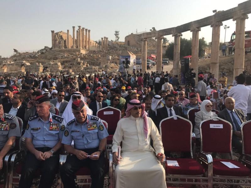سفير خادم الحرمين الشريفين في عمّان يشارك في افتتاح فعاليات مهرجان جرش