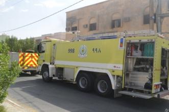 بالصور.. تسرّب غاز يتسبّب بحريق سكن عمال في رفحاء - المواطن