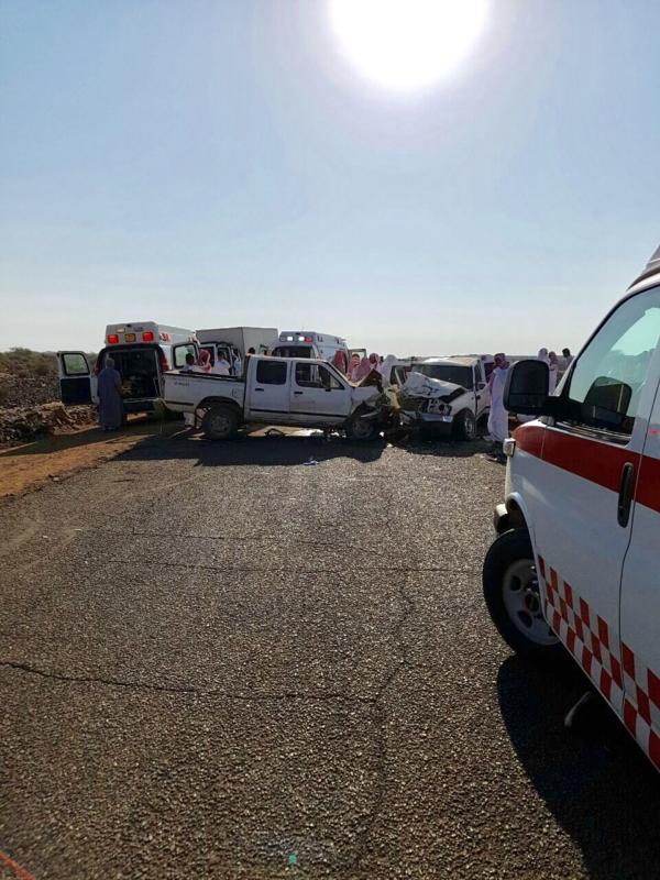 بالصور .. إصابة 5 و وفاة 2 في حادث طلاب صباح اليوم بالمدينة
