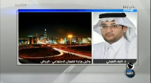 وكيل وزارة العمل والتنمية الاجتماعية للضمان الاجتماعي الدكتور نايف الصبحي